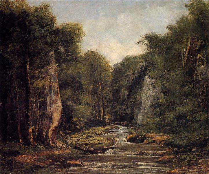 The River Plaisir Fontaine, 1865 - Gustave Courbet