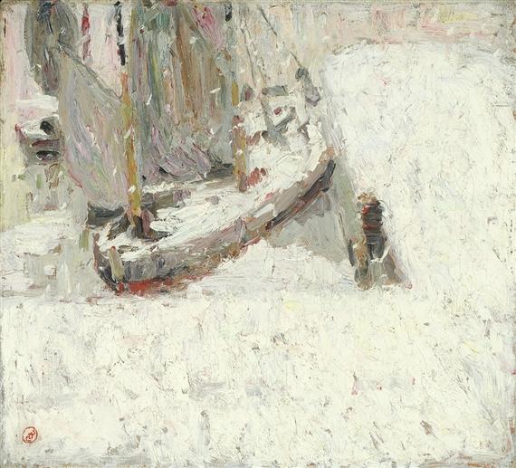 Harbour Under Snow, 1908 - Густав де Смет