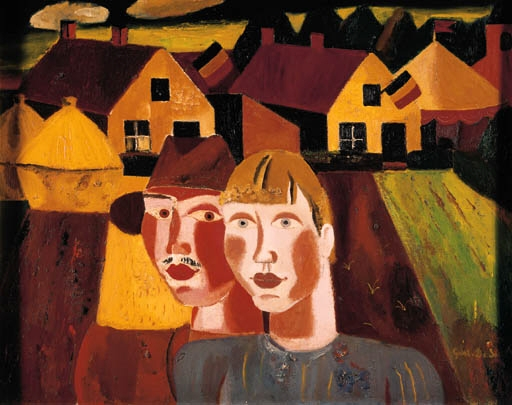 Le couple au village - Gustave de Smet