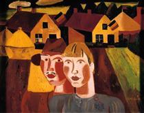 Le couple au village - Густав де Смет