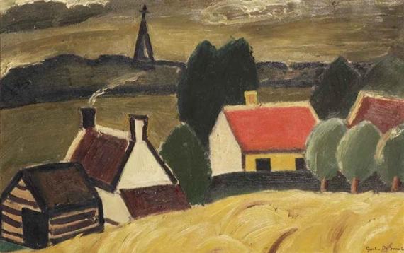 The ripe cornfield, 1929 - Gustave de Smet