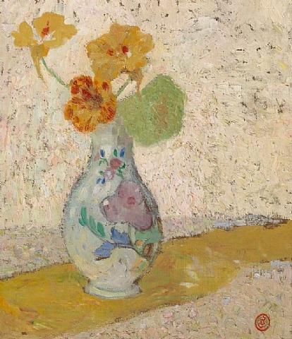 Three Flowers in a Vase - Густав де Смет