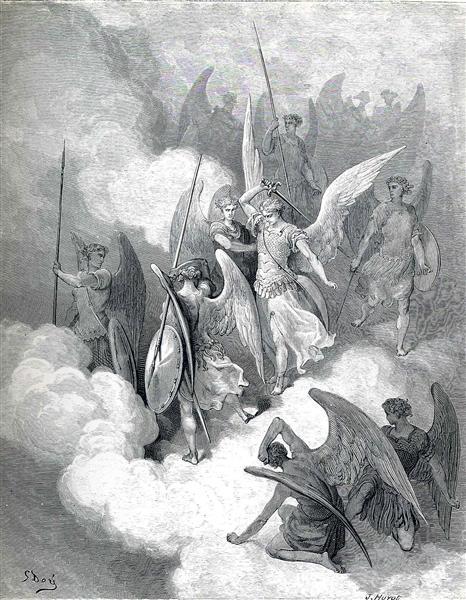 Abdiel and Satan, c.1868 - Gustave Dore