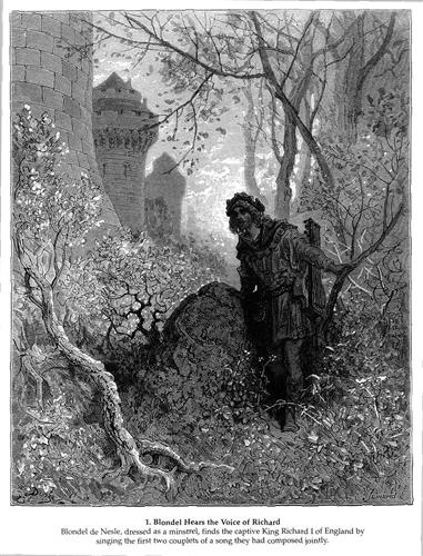 Blondel hears the voice of Richard the Lionheart - Gustave Dore