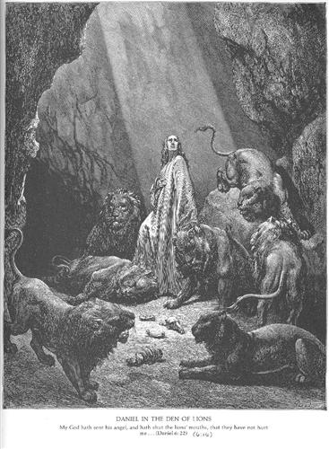Daniel in the Den of Lions - Gustave Dore