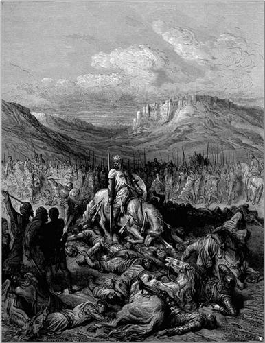 Glorious death of Jacques de Maille Marshal of the temple - Gustave Dore