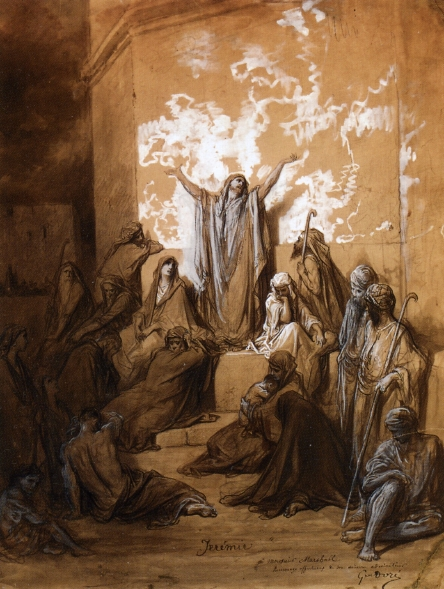 Jeremiah Preaching to His Followers - Gustave Dore
