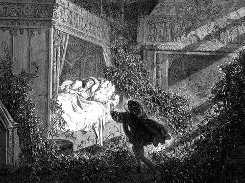 Reclining Upon A Bed Was A Princess Of Radiant Beauty - Gustave Dore