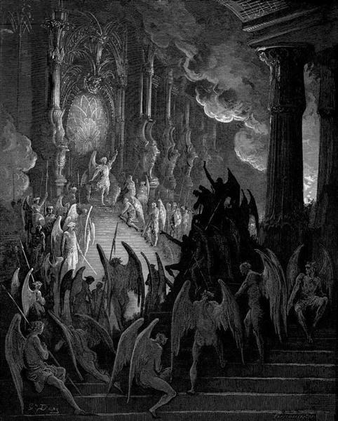 Satan in Council - Dore Gustave