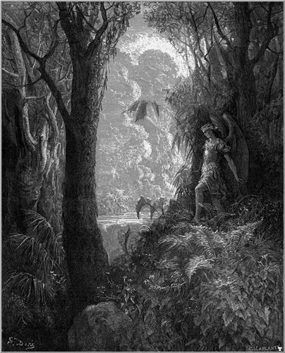 Satan in Paradise - Gustave Dore
