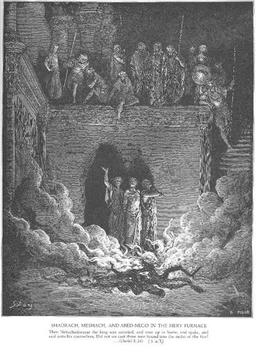 Shadrach, Meshach and Abednego in the Furnace - Gustave Dore