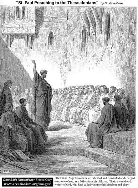 St. Paul Preaching To The Thessalonians - Gustave Dore