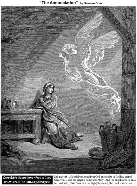 The Annunciation - Gustave Dore