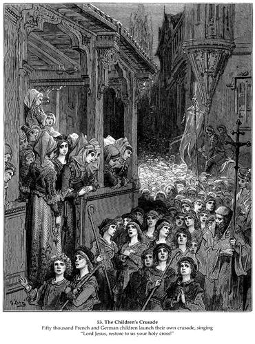 The Children's Crusade in 1212 - Gustave Dore
