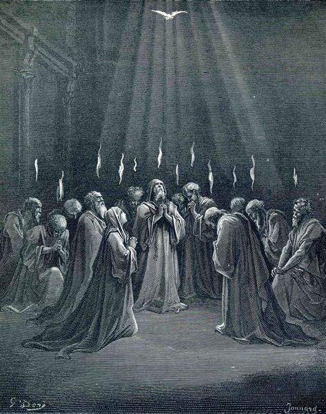 The Descent Of The Spirit - Gustave Doré