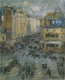 Cligancourt Street in Paris - Gustave Loiseau