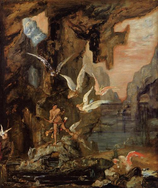 Hercules at Lake Stymphalos, 1875 - 1880 - Gustave Moreau