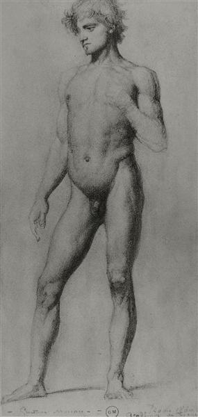 Male nude, 1860 - Gustave Moreau