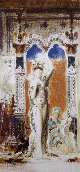 Salome (Entering the Banquet Room), c.1875 - Gustave Moreau