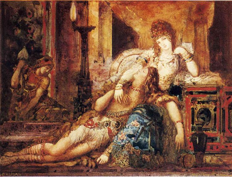Samson and Delilah, 1882 - Gustave Moreau