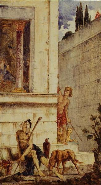 The Wicked Rich and the Poor Lazarus, c.1875 - 1878 - Gustave Moreau