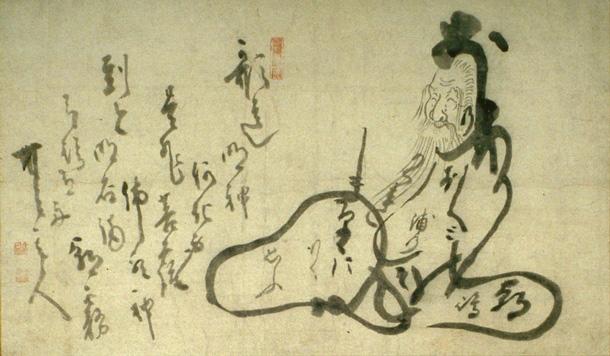 Hitomaro - Hakuin Ekaku