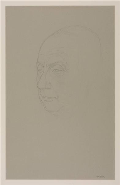 Portrait of Jean Arp, 1957 - Hans Bellmer
