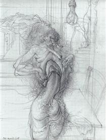 Untitled (Phallus Girl) - Hans Bellmer