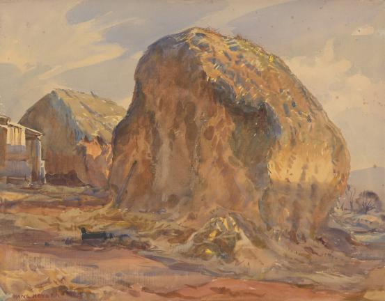 The old stack, 1924 - Hans Heysen