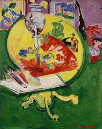 Yellow Table on Green, 1936 - Hans Hofmann