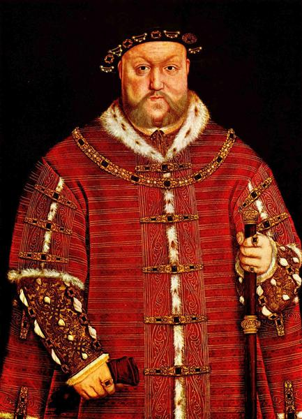 Portrait of Henry VIII, 1542 - Hans Holbein the Younger