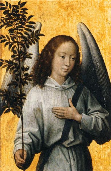 Angel Holding an Olive Branch - Memling Hans
