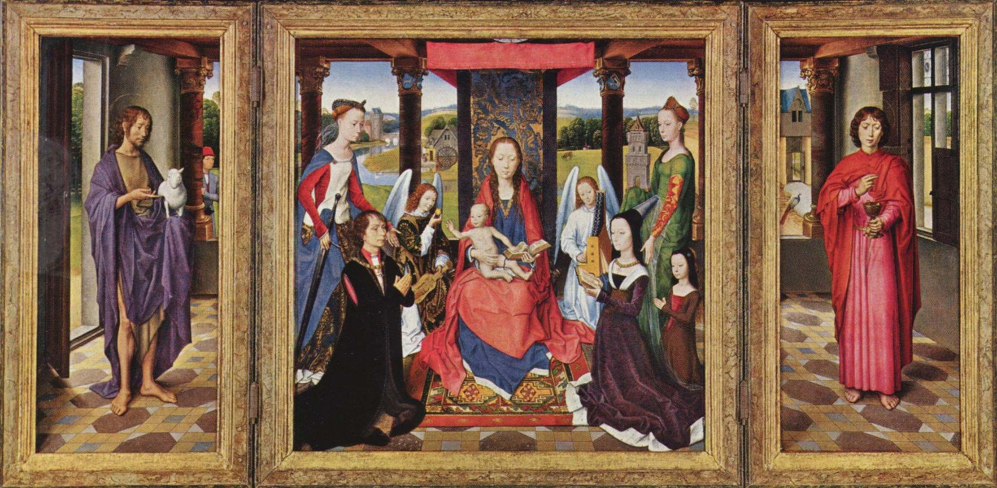 a visual analysis of the altarpiece the virgin and child with saints francis andrew paul peter steph