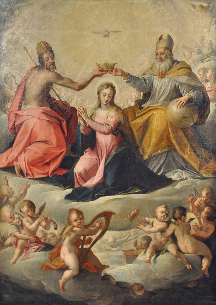 Coronation of Mary, 1596