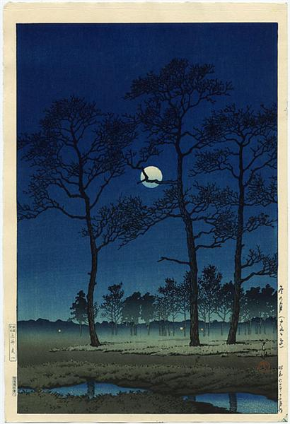 Winter Moon over Toyama Plain, 1931 - Hasui Kawase