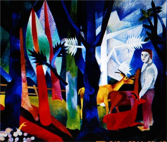In The Forest, 1916 - Heinrich Campendonk