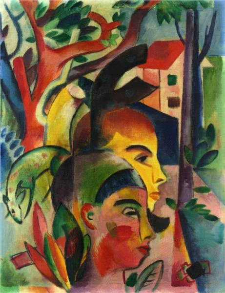 Two heads - Heinrich Campendonk