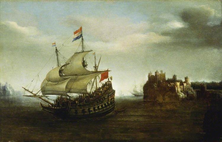 A Castle with a Ship Sailing Nearby, 1626 - Hendrick Cornelisz Vroom