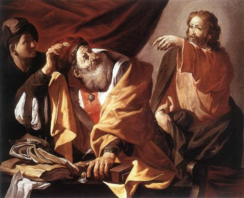 The Calling of St. Matthew - Hendrick Terbrugghen