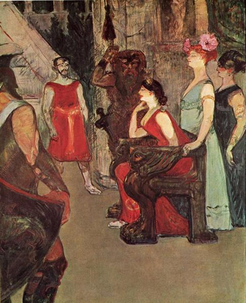 Messalina Seated - Henri de Toulouse-Lautrec