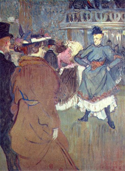 Moulin Rouge The departure of the quadrille, 1892 - Анри де Тулуз-Лотрек
