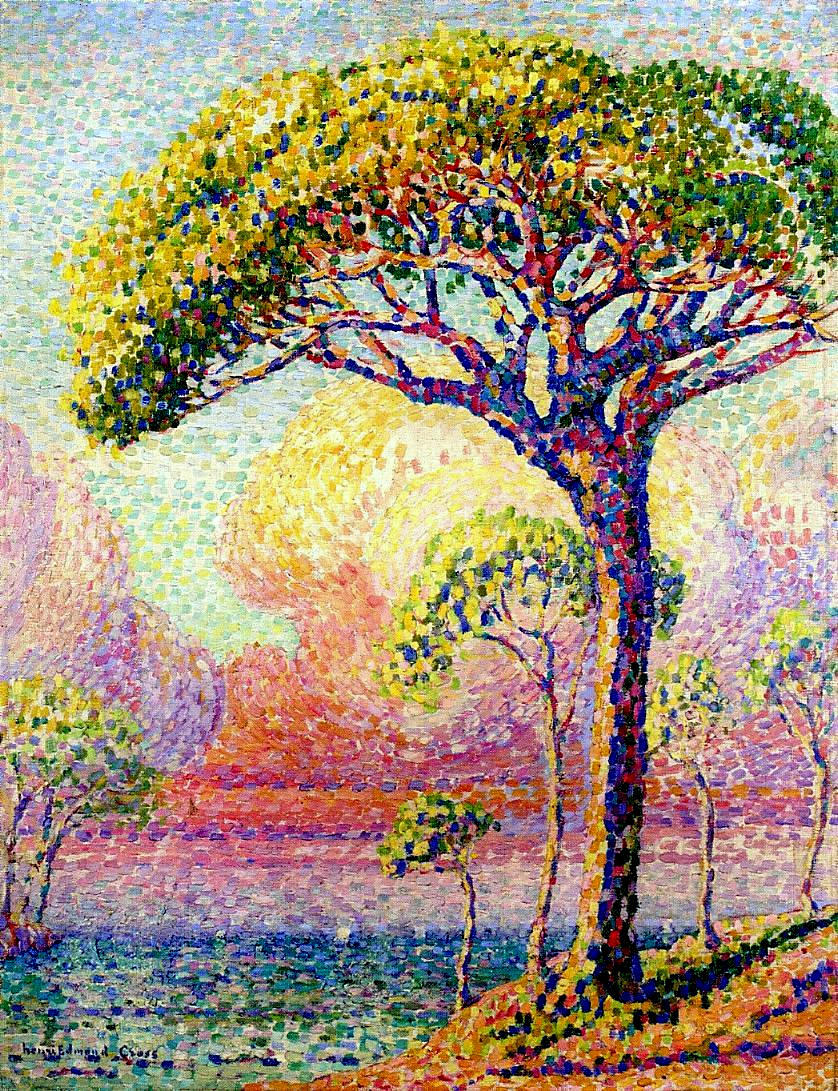 Superbe The Pine Tree at St. Tropez, 1909 - Paul Signac - WikiArt.org &KC_97
