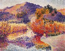 River in Saint-Clair - Henri-Edmond Cross