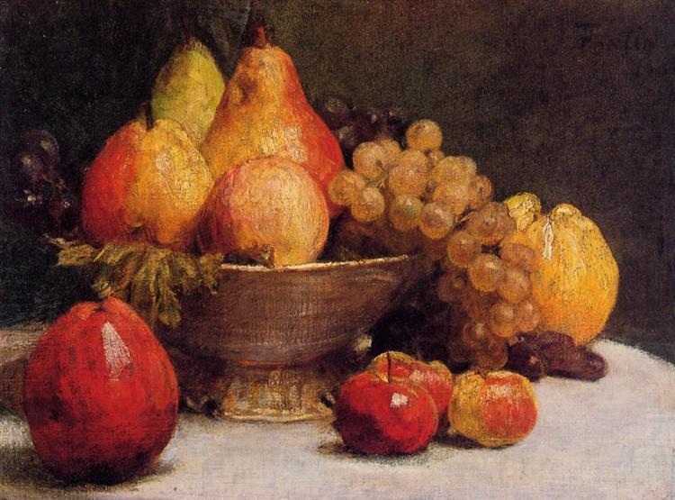 Bowl of Fruit, 1857 - Henri Fantin-Latour