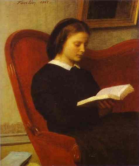 The Reader (Marie Fantin Latour, the Artist's Sister), 1861 - Henri Fantin-Latour