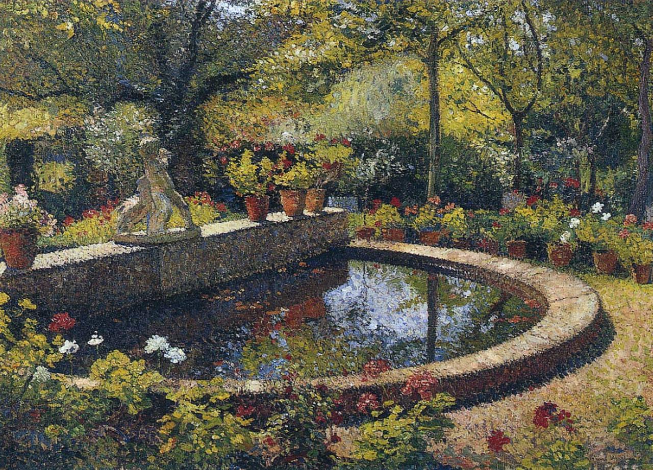 Fountain In My Garden Henri Martin