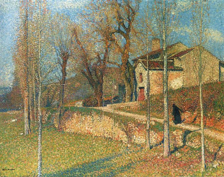 Near Colliure in Twilight - Henri Martin