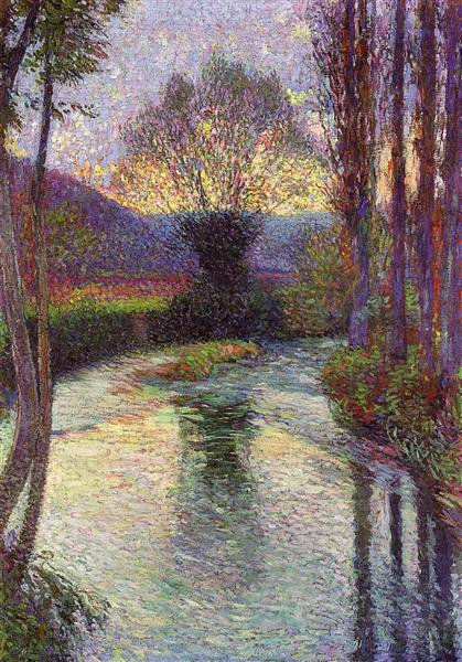 Reflected Willow on the Green, 1915 - Henri Martin