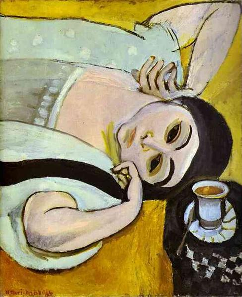 Laurette's Head with a Coffee Cup, 1917 - Henri Matisse - WikiArt.org