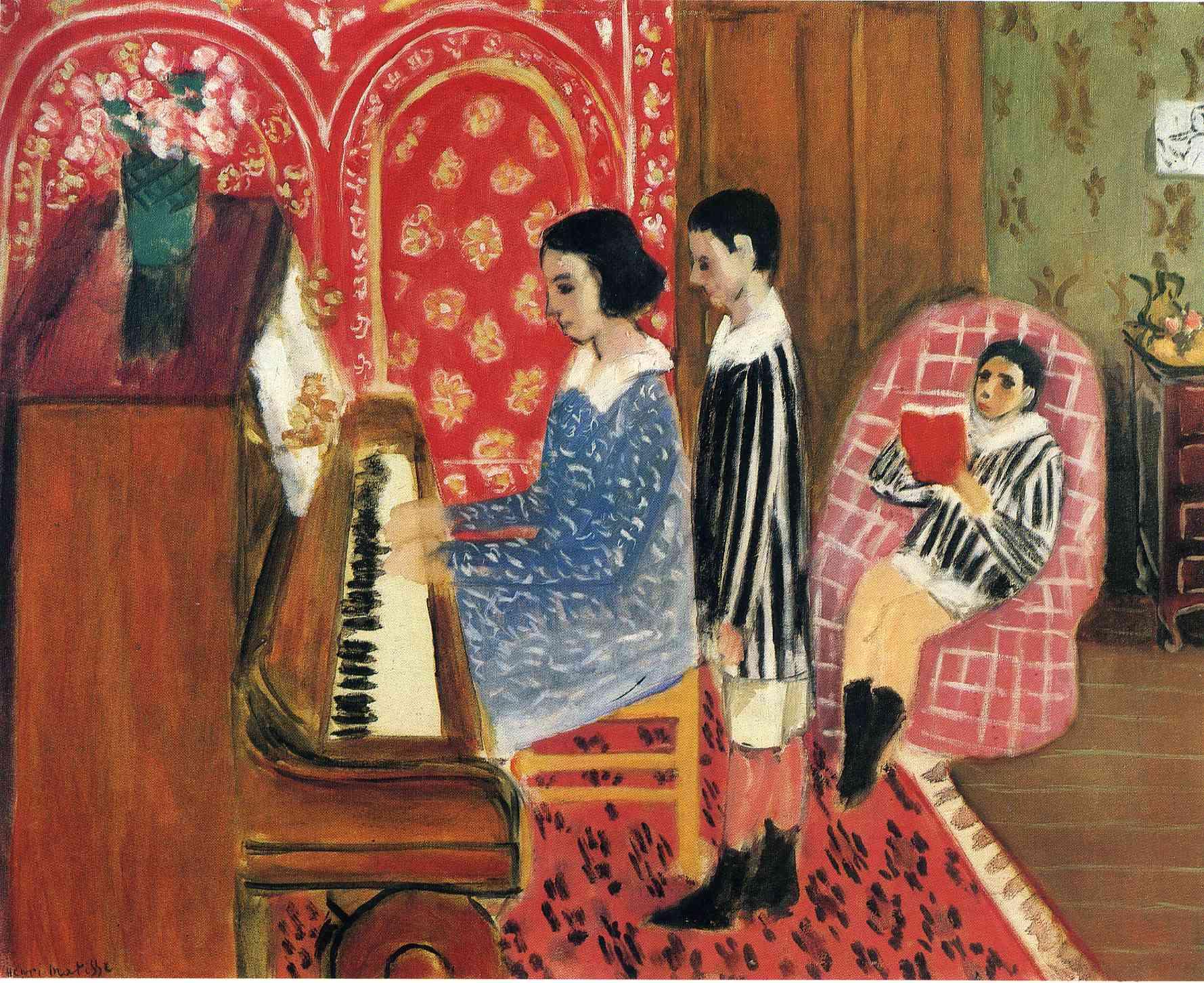 The piano lesson 1923 henri matisse for Le violoniste a la fenetre henri matisse
